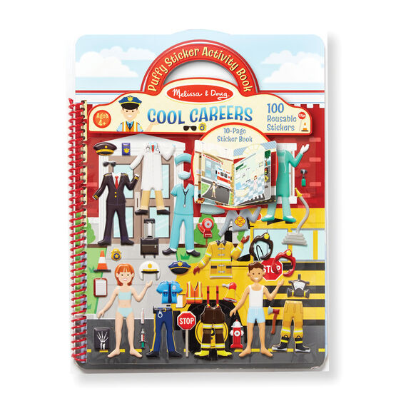 Deluxe Puffy Sticker Album-Cool Careers
