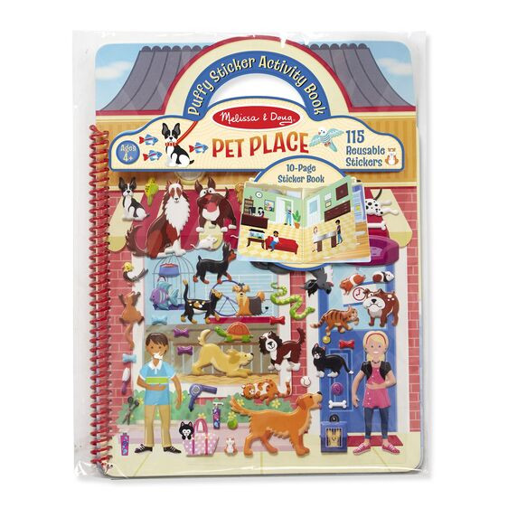 Deluxe Puffy Sticker Album-Pet Place