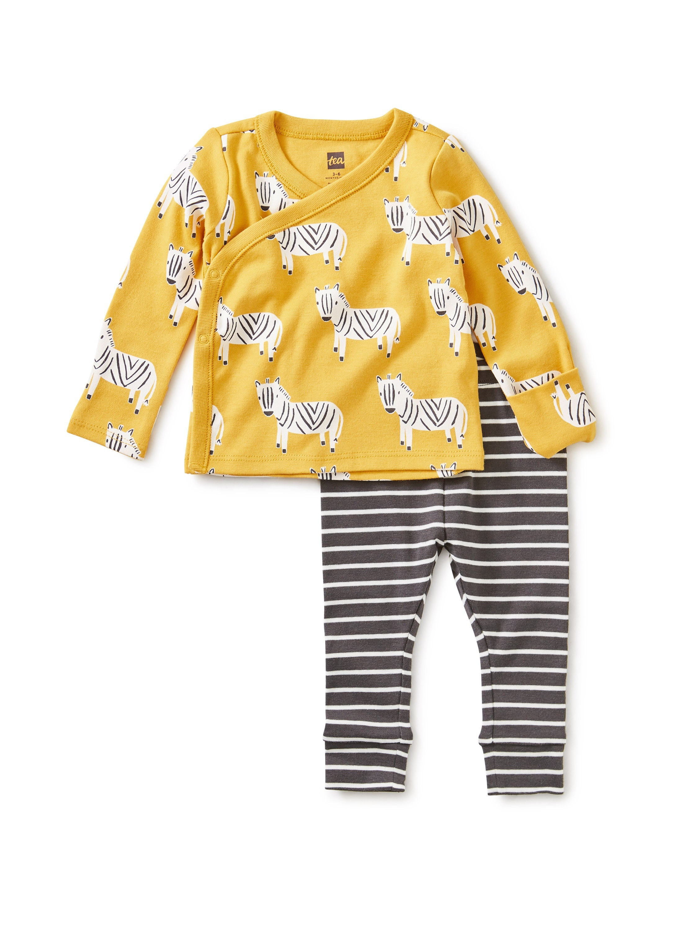 Wrap Top Baby Outfit-Sweet Zebra