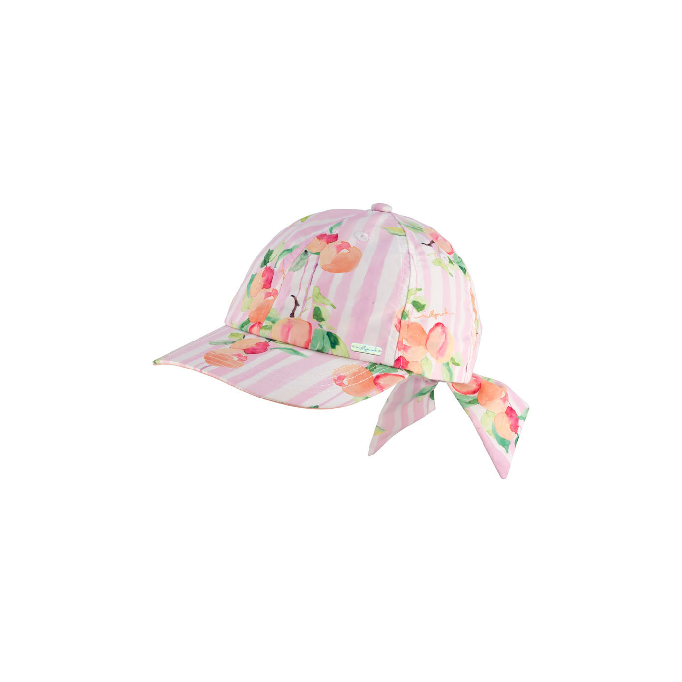 Girls Bow Cap Peachy