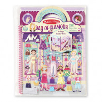 Deluxe Puffy Sticker Album-Day of Glamour