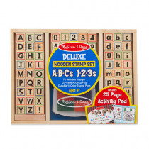 Deluxe Wooden Stamp Set-ABC's and 123's