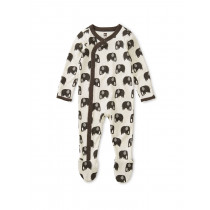 Footed Romper-Elephants