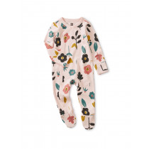 Footed Romper-Blooms