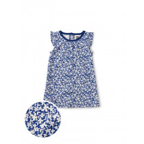 Ruffle Shoulder Baby Dress-Cyprus Floral