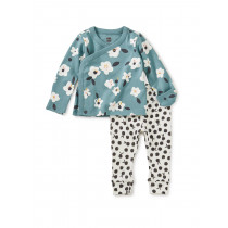 Wrap Top Baby Outfit-Flores Forever