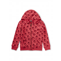 French Terry Zip Hoodie Really Roja