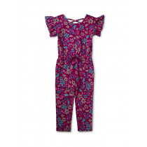 Scoop Back Ruffle Jumpsuit Machu Picchu Blooms