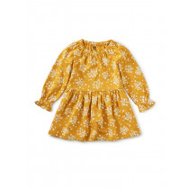 Peasant Baby Dress Golden Wildflowers