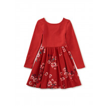 Ballet Skirted Dress-Ruby