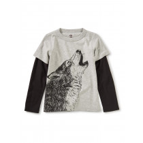 Husky Howl Layered Graphic Tee