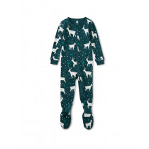Patterned Footed Pajamas-Night Deer
