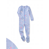 Glow Patterned Footed Pajamas-Galaxy