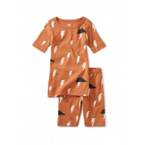Printed Shortie PJ's-Thunder and Lightning