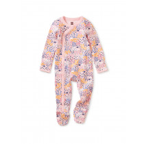Footed Romper-Rainbow Forest