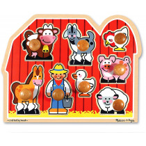 Deluxe Jumbo Knob Puzzle-Farm Friends