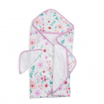 Hooded Towel and Wash Cloth Morning Glory