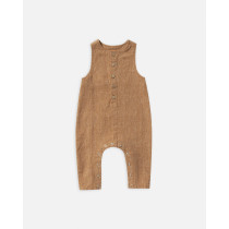 Button Jumpsuit-Bronze