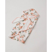 Hooded Towel and Wash Cloth Watercolor Roses